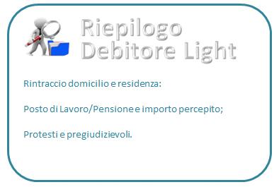 Report debitore persona light (prezzo compreso IVA)