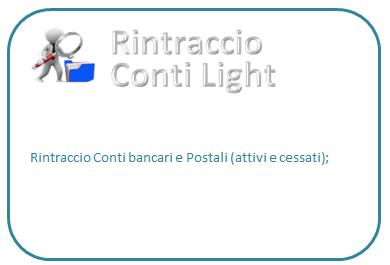 Rintraccio conti azienda light (prezzo compreso IVA)