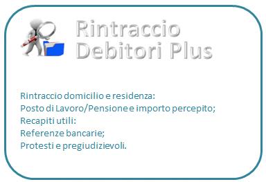 Rintraccio debitori completo (prezzo compreso IVA)
