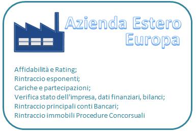Affidabilità e rating Europa (prezzo compreso IVA)